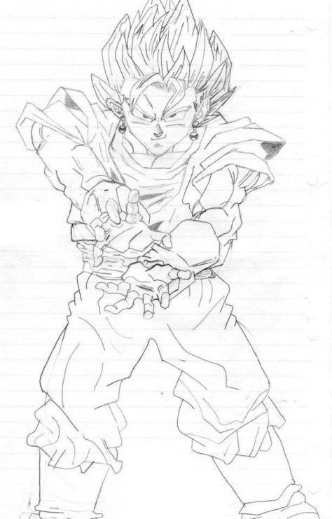 02 - Vegito (fusão Goku e Vegeta com os brincos)