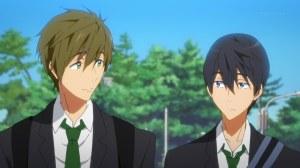 free-01-makoto-haruka-childhood_friends-school_uniforms-bored-boring