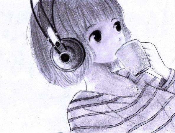 manga_short_hair_girl_listen_music_by_gunz159-d5zafu0b