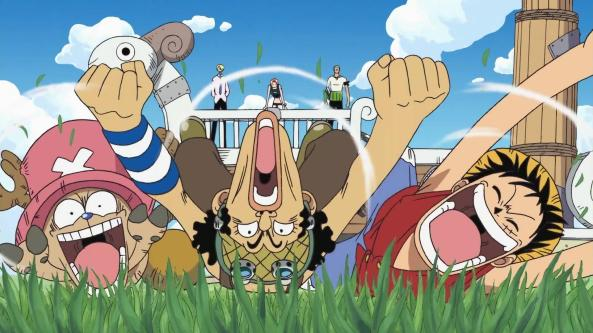 Luffy,_Usopp_und_Chopper_betreten_wieder_festen_Boden